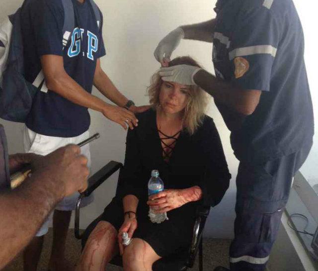 A artista passa bem e está recebendo atendimento médico dentro do próprio navio. Foto: Taciana Goes/DP  (Taciana Goes/DP )