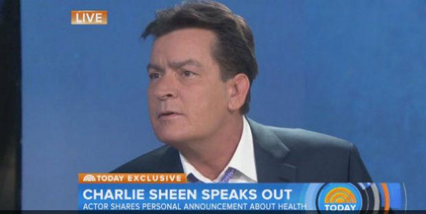 """Charlie Sheen revelou ser soropositivo no programa norte-americano """"Today"""". Foto: YouTube/Reprodução"""
