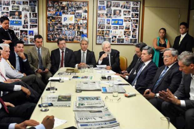 Líderes partidários se reuniram com o presidente da Comissão Especial do Impeachment para debater roteiro de trabalho. Foto:Antonio Cruz/ Agência Brasil.