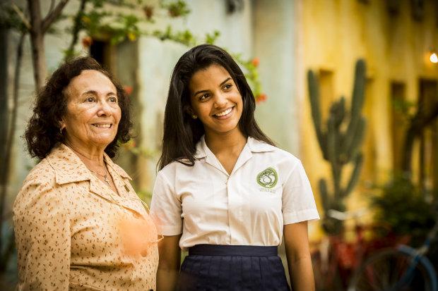 A atriz Rayza Alcântara, de 16 anos, estreia na televisão. Foto: TV Globo/Divulgação (TV Globo/Divulgação)
