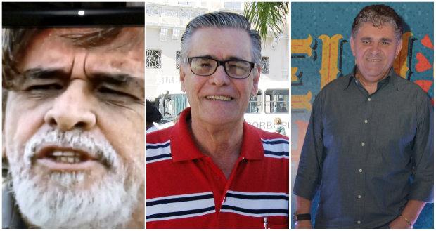 Julio Rocha, Renato Phaelante e Batoré. Foto: Arquivo pessoal