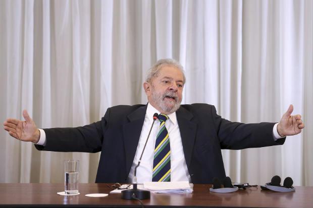 """Lula também criticou os """"vazamentos seletivos"""" contra políticos do PT. Foto: Ricardo Stuckert/ Instituto Lula."""