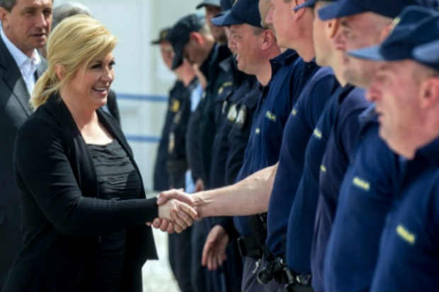 A presidente da Croácia, Kolinda Grabar. Foto: Robert Atanasovski/AFP