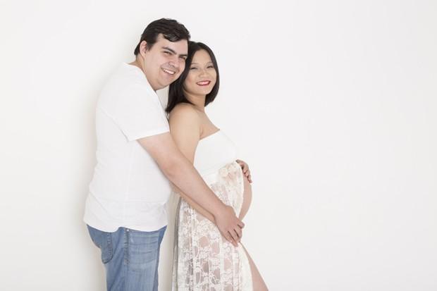 Chinesa está grávida de sete meses. Foto: Daniela Margotto/Reprodução