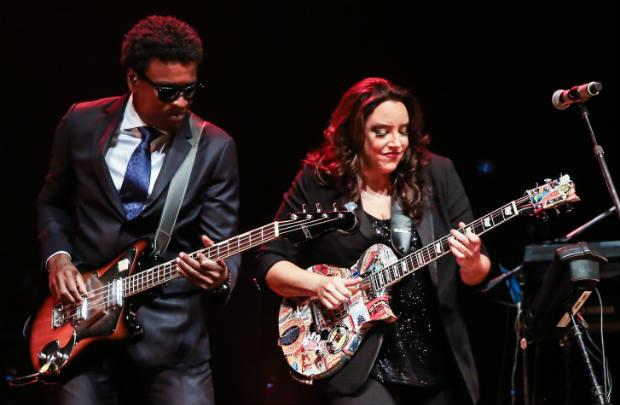 """Músicos definiram novo show como """"turnê de preto com gay"""". Foto: Manuela Scarpa/Brasil News"""