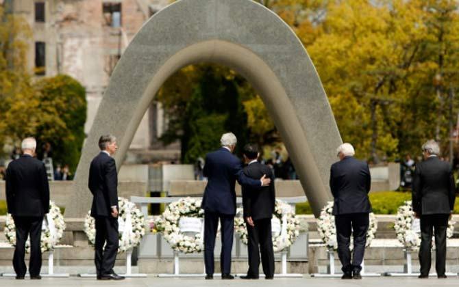 O secretário de Estado americano, John Kerry, durante última visita a Hiroshima. Foto: Jonathan Ernst/Pool/AFP/Arquivos