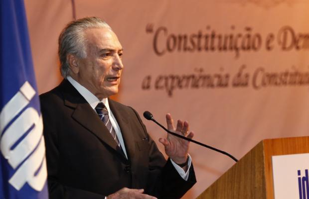 Temer ocupa a Presidência até domingo, enquanto Dilma está em compromisso nos EUA. Crédito: Anderson Riedel/VPR