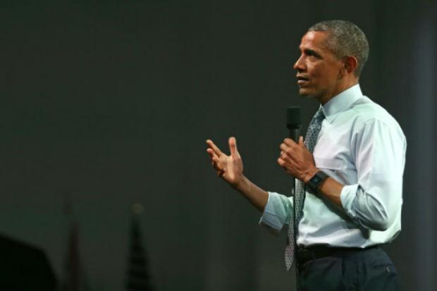 Esta é a quinta visita a Londres de Obama como presidente. Ele só visitou a França mais vezes e pode ser talvez a última, oito meses antes do fim de seu mandato. Foto: AFP JUSTIN TALLIS