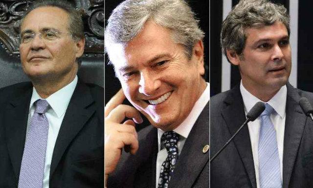 Renan Calheiros, Fernando Collor de Mello e Lindberg Farias. (foto: Montagem/AFP Photo/Andressa Anholete/Evaristo Sá/Jefferson Rudy/ Agencia Senado )