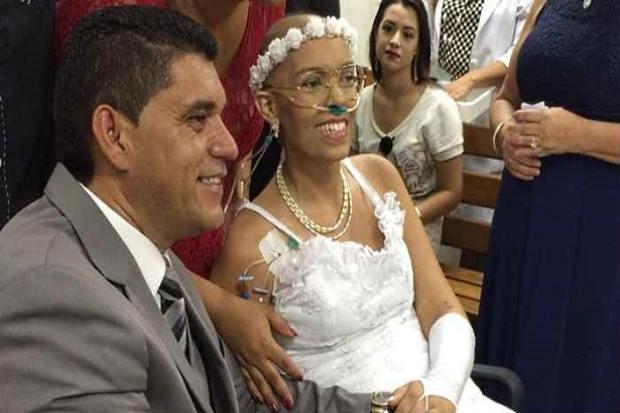 A história de amor de Lidiane Regina Viana e seu companheiro há 19 anos, Edgard Bezerra, emocionou a todos. Foto: HUB-Unb/Divulgação.