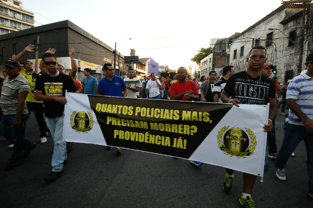 Mobilização marcou a quarta-feira. Foto: João Velozo/ Esp. DP