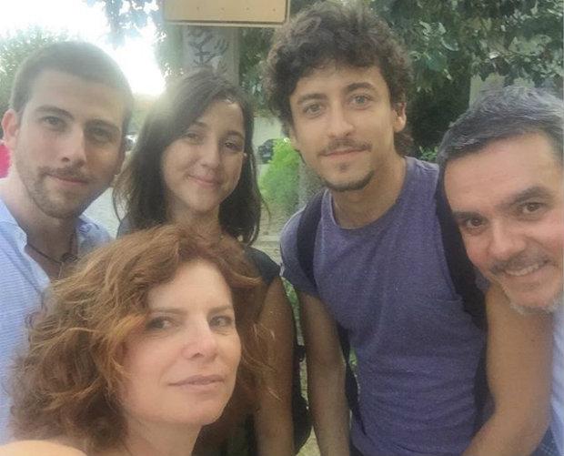 Débora Bloch postou registro dos ensaios com colegas de elenco. Foto: Instagram/Reprodução