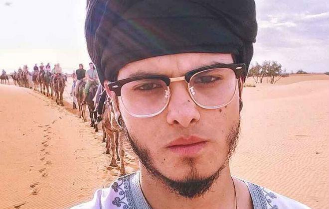 Kayan Lucas gosta de experimentar novos sabores, como olhos de cabra, no Marrocos. Foto: Arquivo pessoal