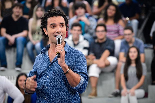 Marco Luque estreou no Altas Horas no início de abril. Foto: TV Globo/Divulgação