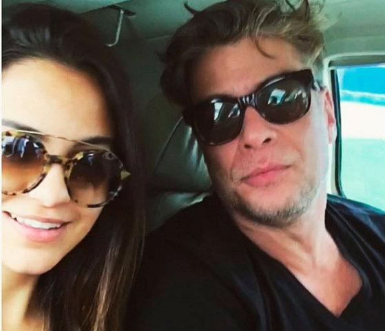Pally Siqueira e Fábio Assunção em foto postada nas redes sociais. Instagram/divulgação