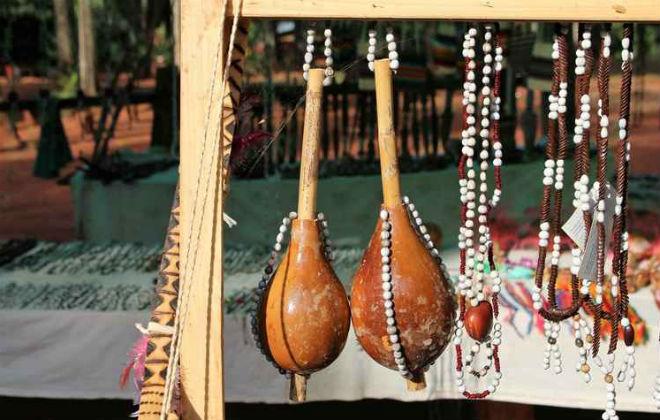 O artesanato mostra a cultura dos primeiros habitantes da região. Foto: Renato Alves/CB/D.A. Press