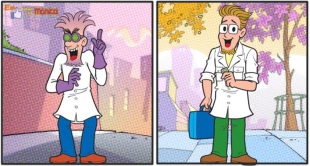 Dr Spam era a versão malvada do Professor Spada. Foto: Mauricio de Sousa/Reprodução