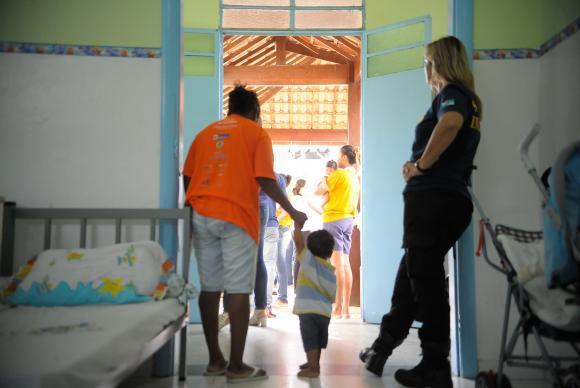 Unidade Materno Infantil do Presídio Tavalera Bruce, que recebe mulheres privadas da liberdade acompanhadas de seus bebês, desde o nascimento até 1 ano de idade. Foto: Tânia Rêgo/Agência Brasil