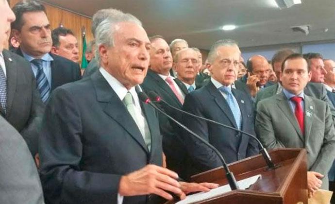Michel Temer dá posse a novos ministros e faz discurso de possePedro Peduzzi/Agência Brasil