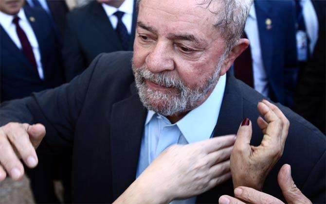Lula se mostrou muito abatido com o afastamento da presidente Dilma Rousseff. Foto: Juca Varella/Agência Brasil