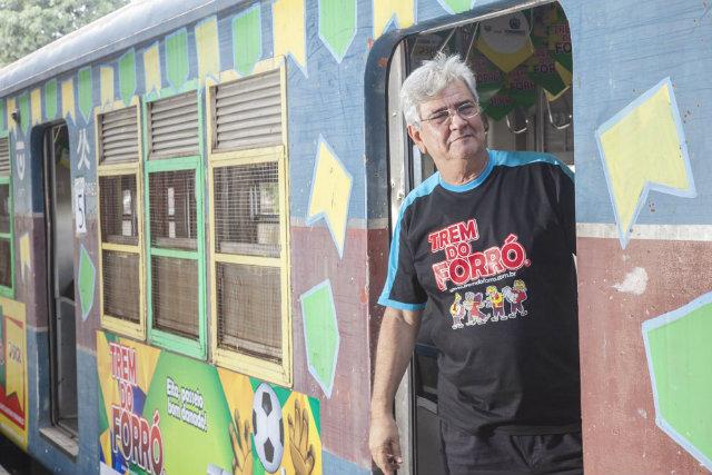 Anderson Pacheco, o criador do Trem do Forro. Foto: Trem do Forro/Divulgação