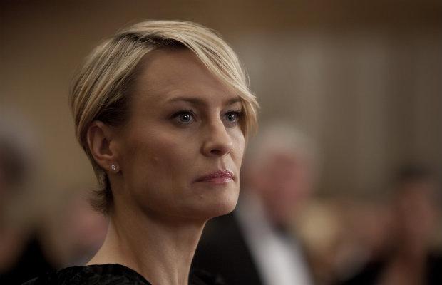 Estima-se que Wright recebesse US$ 420 mil por episódio, enquanto Spacey recebia US$ 1 mi. Netflix/Divulgação