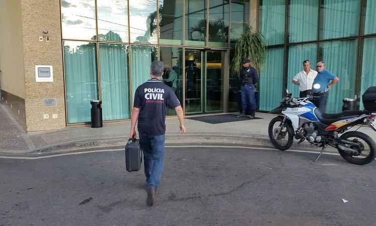 Quartos do agressor e de Ana Hickmann no Hotel Caesar Business foram periciados pela Polícia Civil. Foto: Marcos Vieira/ EM