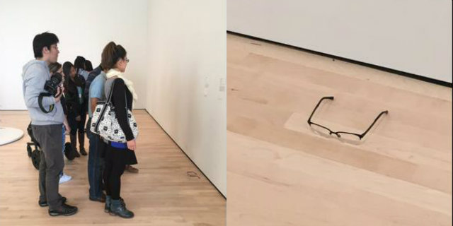 Garoto deixa óculos em chão de museu e objeto é confundido com obra ... 72139c90bd