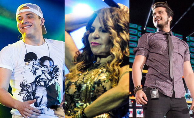 Safadão, Elba Ramalho e Luan Santana cumprem agenda junina em Pernambuco. Foto: Facebook/Reprodução