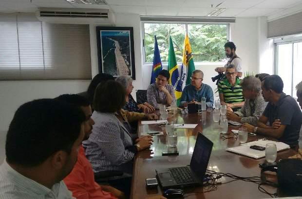 Bruno Araújo foi recebido por Elias Gomes em Jaboatão dos Guararapes. Foto: Augusto Freitas/DP