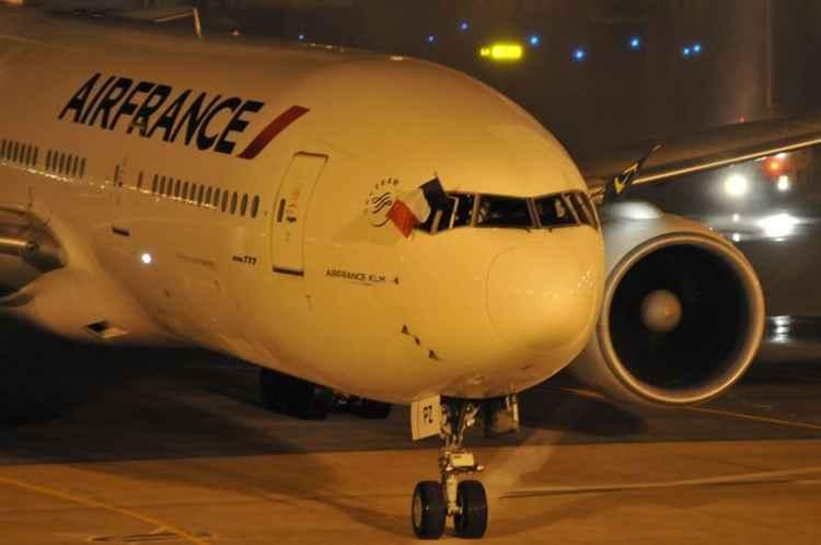 A Air France informa ainda que voos Air France operados por aeronaves de outras companhias a