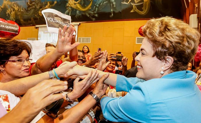 O discurso de Dilma será voltado ao protagonismo das mulheres e à defesa da democracia Foto: Reprodução/Facebook (O discurso de Dilma será voltado ao protagonismo das mulheres e à defesa da democracia Foto: Reprodução/Facebook )