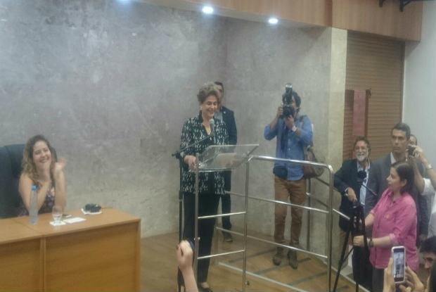 Dilma Rousseff começou o discurso ressaltando sobre a importância da educação. Foto: Maira Baracho/DP.