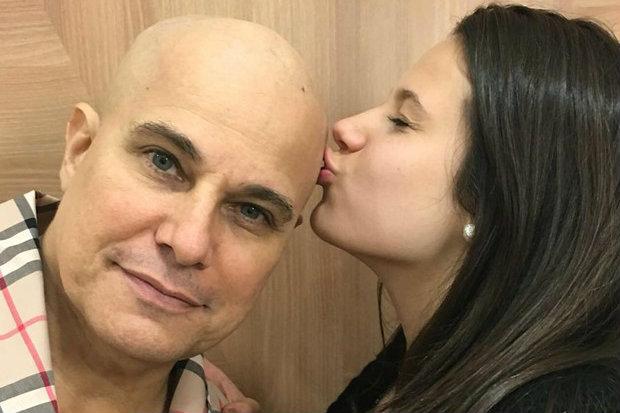 Claudia Raia também postou uma foto do ex-marido com a filha. Foto: Reprodução da internet
