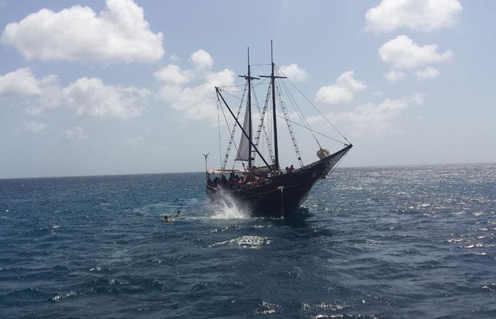 Os turistas podem optar por passeios de catamarã, veleiro ou outros tipos de barco que levam para mergulhos onde se pode ver peixes. Foto: Paulo Goethe/DP