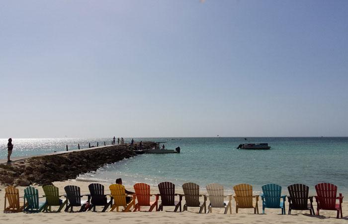 Aruba tem clima estável ao longo de todo o ano, com média de 28º C e poucas chuvas. Foto: Paulo Goethe/DP