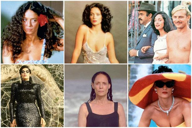 Sonia Braga em diferentes personagens da carreira na TV e no cinema