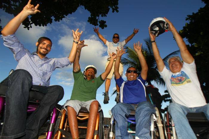 Cadeirantes se preparam para participar do projeto. Foto: Rafael Martins/ Esp. DP