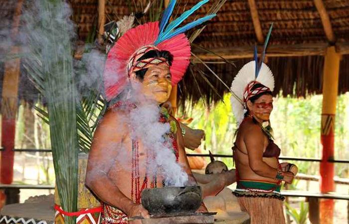 O patxohã é a língua falada na aldeia. Foto: Rodolfo Vilela Mtur/Divulgação
