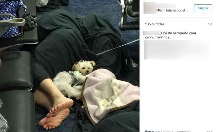 Foto apagada mostrava pessoas dormindo no sagu