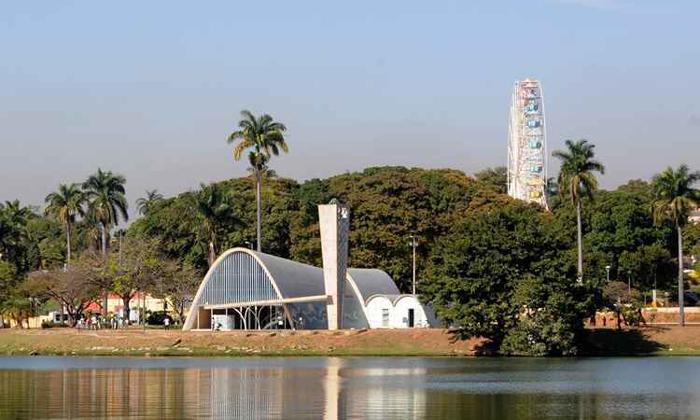 Complexo da Pampulha em Belo Horizonte inclui a Igreja de São Francisco de Assis: traços do arquiteto Oscar Niemeyer. Foto: Beto Novaes/EM/D.A. Press