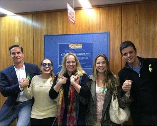 """A comitiva foi recebida pelo procurador do Ministério Público Federal Deltan Dallgnol e declarou o apoio ao projeto """"Dez medidas contra a corrupção"""". Foto: Reprodução/Instagram"""