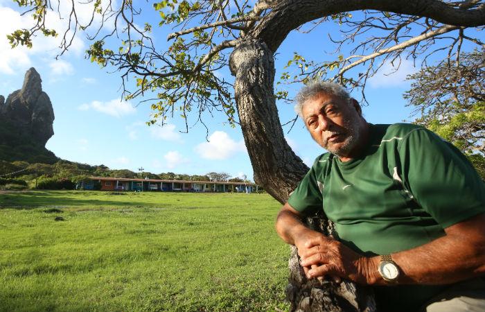 Funcionário público federal aposentado Davi Alves Cordeiro, 85 anos, nasceu na ilha.Foto: Teresa Maia/ DP