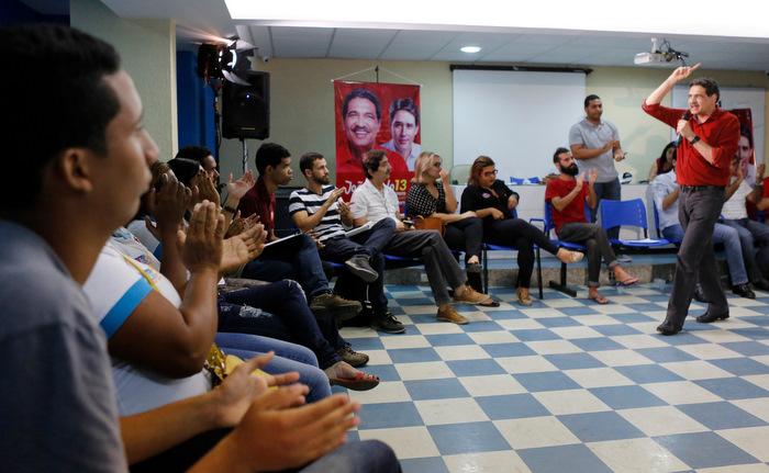 Candidato do PT participou da Ciranda da Juventude. Foto: divulga