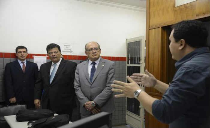 O presidente do Tribunal Superior Eleitoral, Gilmar Mendes, visita Cart