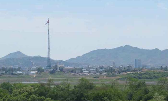 Vilarejo de Kijong-dong (Coreia do Norte), na Zona Desmilitarizada. Foto: Rodrigo Craveiro/CB/D.A. Press