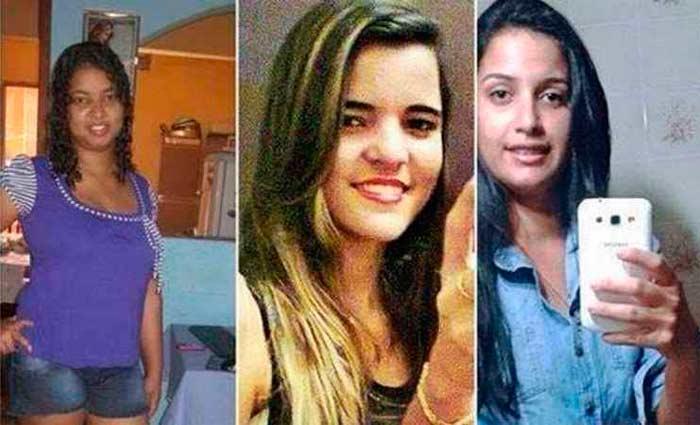 Michele, Lidiana e Thayane, achadas mortas em Portugal: namorado de Michele na mira de investigadores. Foto: Internet/Reprodu