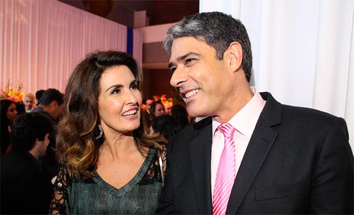 O casal dividiu a bancada do Jornal Nacional de 1998 a 2011. Foto: Globo/Divulgação