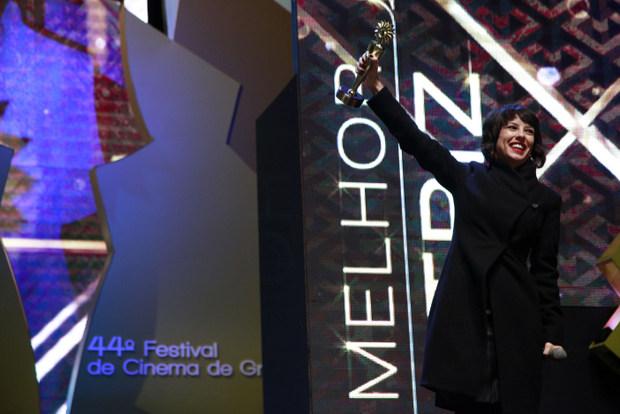 Andreia Horta venceu o kikito de melhor atriz pelo papel de Elis Regina. Foto: Cleiton Thiele/ Pressphoto