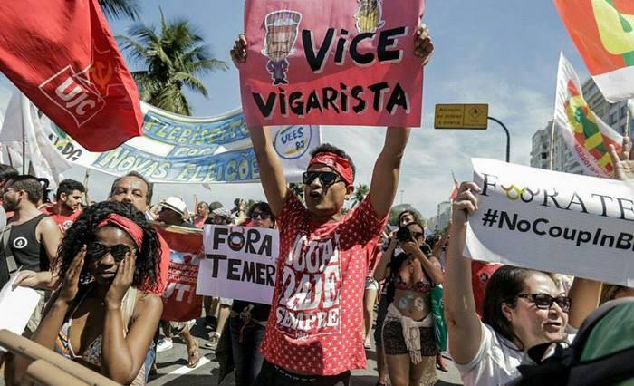 Protesto contra o governo de Michel Temer. Foto: M